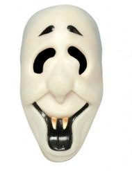 Leende självlysande spöke - Halloweenmask för vuxna