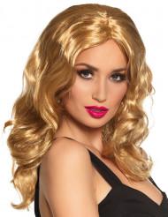 Peruk blond lång