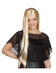 Lång blond peruk för vuxna