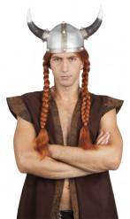Vikinga peruk med långa flätor