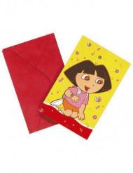 6 inbjudningskort från Dora utforskaren™
