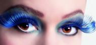 Lösögonfransar XL svart och blå vuxen