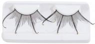Dubbla lösögonfransar svarta med glitter