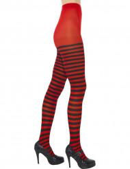 Röd stumpbyxor med svarta ränder för vuxna