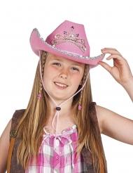 Cowgirlhatt rosa barn