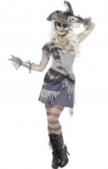 Död piratkvinna - utklädning vuxen Halloween