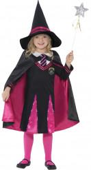 Trollkarlsdräkt med rosa mantel - Halloweenkostym för barn