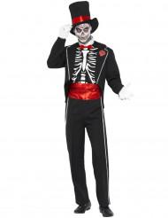 Skelettdräkt gentleman Halloween