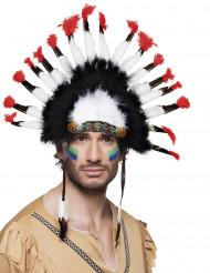 Fjäderskrud för präktig indian - Huvudbonader för vuxen