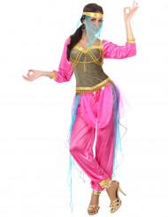Kostym som arabiskinspirerad danserska i rosa vuxna