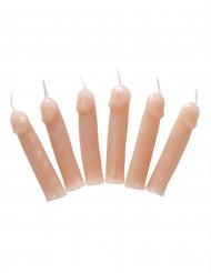 6 penisformade ljus