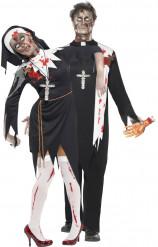 Zombiepräst och nunna - Halloweenkostym för par