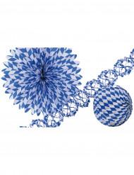 Dekorationskit i blått och vitt