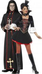Demoniskpräst & vampyr - Pardräkt till Halloween