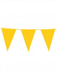 Girlang med gula jättevimplar 10 m