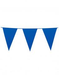 Blå vimpelgirlande till festen 10m