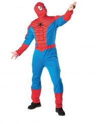 Spiderman™ Maskeraddräkt med torso och rånarluva Vuxen