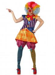 CupCake - Clownkostym för vuxna till kalaset