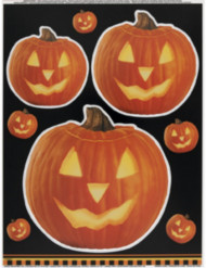 Stickers med pumpor för fönstret - Halloweendekoration
