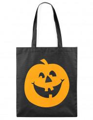 Tygpåse med pumpa - Halloweentillbehör