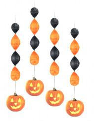 4 hängnade pumpadekorationer till Halloween