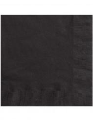 20 svarta pappersservetter 33 x 33 cm