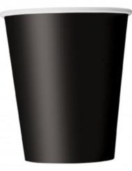 8 svarta muggar