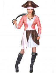 Pirat i rosa - Maskeraddräkt för vuxna