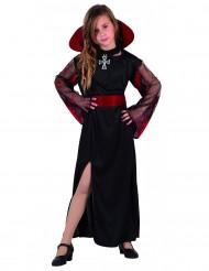 Lång vampyrklänning för barn med krage - Barnens Halloween