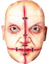 Zombiemask med ärr och nitar