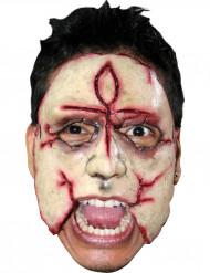 Mördare med korsformat ärr - Maskeradmask för vuxna