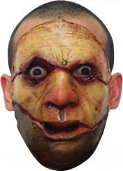 Zombiemask med uppskärt ansikte Vuxen Halloween