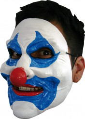 Clownmask Vit och blå Vuxen