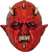 Djävul med flera horn Mask Vuxen Halloween