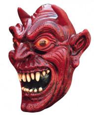 Röd Djävul Mask Vuxen Halloween