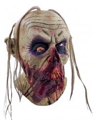 Blodig Zombiemask med hängande tunga Vuxen Halloween