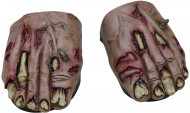 Skoöverdrag Zombiefötter Vuxen Halloween