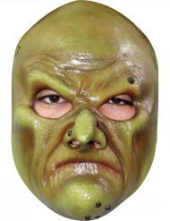 Grön trollkarlsmask för vuxna till Halloween