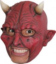 Djävulsmask med horn Vuxen Halloween