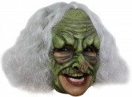 Häxa Grön Mask Vuxen Halloween