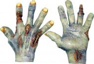 Zombiehänder med sår Vuxen Halloween
