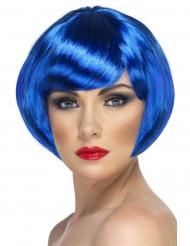 Kabaré Peruk Kort blått hår