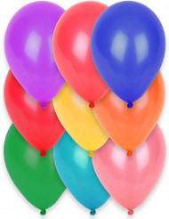 12 biologiskt nedbrytbara ballonger i olika färger 28 cm