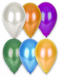 12 metalliseradeballonger i olika färger 28 cm