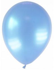 12 ljusblå metallic ballonger 28 cm