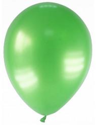 12 metallgröna ballonger 23 cm