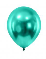 12 metalliserat mörkgröna ballonger 28 cm