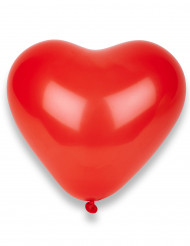 8 röda hjärtballonger