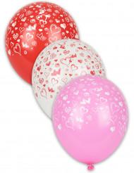 8  Ballonger  med hjärtan