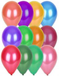 100 metalliska mångfärgade ballonger - Kalasdekor